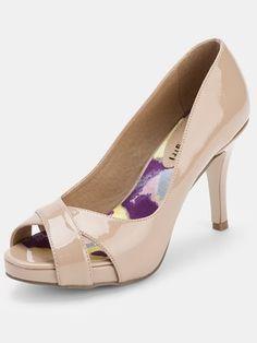 Madden Girl Gertie Peeptoe Court Shoes - Nude Patent, http://www.littlewoods.com/madden-girl-gertie-peeptoe-court-shoes---nude-patent/1180777414.prd