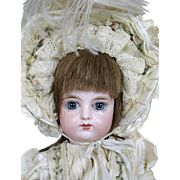 """Antique 14"""" Closed Mouth French FG Francois Gaultier Bebe Doll"""