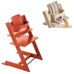 Stokke  Tripp Trapp  Lava Orange Chair Lava Orange Baby Set Signature Stripe Cushion