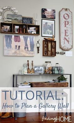 How to Plan a Gallery Wall.  I still don't know if I like gallery walls.  But I like the mishmash of things on this particular wall.  And her method is very good.