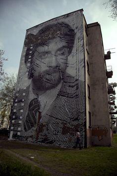 Sten & Lex Mural at Katowice Street Art Festival   Wooster Collective