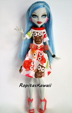 Vestido para muñeca monster high por RopitasKawaii en Etsy