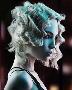 Ken Picton Medium Blonde Hairstyles- what a glamorous idea! A deep wavy Bob Uk Hairstyles, Haircuts For Wavy Hair, Blonde Hairstyles, Franck Provost, Medium Blonde Hair, Braids For Long Hair, Messy Braids, Hair Type, Her Hair