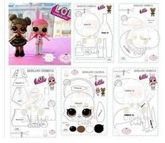 Felt Patterns, Sewing Patterns, Lol Doll Cake, Doll Tutorial, Tutorial Sewing, Free To Use Images, Sewing Dolls, Lol Dolls, Doll Clothes Patterns