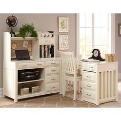 Hampton Bay Corner Home Office Set White