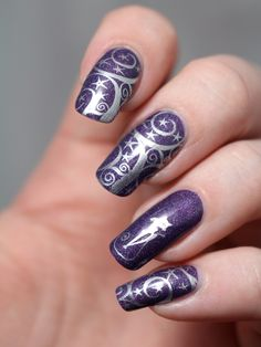nail-art-harry-potter-magic-lady-of-shalott-a-england-vernis-violet-holographique-barry-m-foil-effect-plaque-stamping-plate-bornprettystore-avis-manucure-ongles-longs (4)