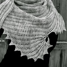 Snowswirls Crochet Shawl designed by Aparna Rolfe
