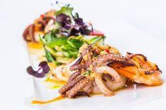 Delicious fish meals at restaurant Le Dome, Riga.
