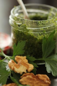 Pesto Petersilie What Makes You Happy, Are You Happy, Pesto, Parsley, Herbs, Make It Yourself, Sweet, How To Make, Food