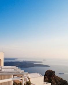 Gold Suites Santorini  ( Santorini, Greece )  The small Gold Suites hotel offers an intimate atmosphere and sweeping Aegean views. #Jetsetter #JSVolcano