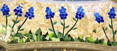 Art class ideas: Mosaic Concrete Bench for Auction