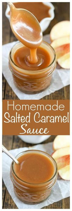Homemade Salted Caramel Sauce  perfect for topping on ice cream or almost any dessert!