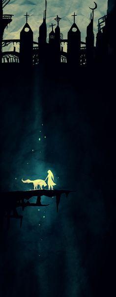 Картинки по запросу dark art girl forest watercolour
