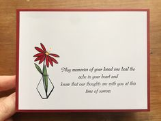 With Sympathy – Endless Creations Rubber Stamps Deepest Sympathy, The Way Home, Penny Black, Lily Of The Valley, Sympathy Cards, My Favorite Color, Pattern Paper, First Love, Memories