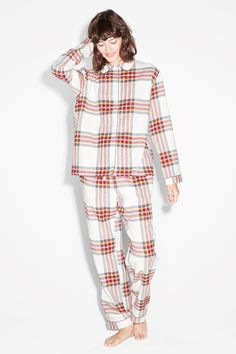 Hunt those zzz's in this absurdly comfy flannel pyjama set.