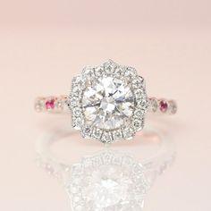Diamond Halo Ring by David Klass Jewelry Wedding Engagement, Diamond Engagement Rings, Wedding Rings, Halo Rings, Halo Diamond, Fine Jewelry, Wedding Inspiration, David, Instagram Posts