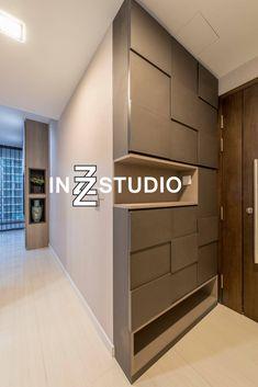 closhlawn inzz studio Sant Ritz 4 # inzz A Healthier Nutrition for Web Developme Foyer Design, Ceiling Design, Wall Design, Entrance Design, Shoe Cabinet Design, Shoe Room, Interior Design Singapore, Entrance Foyer, Space Interiors