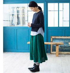 【 blue willow / ブルーウィロウ 】色をあやつる大人の普段着