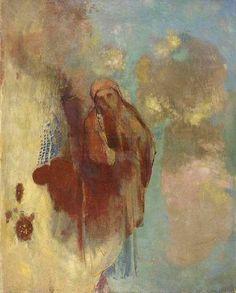 Odilon Redon (French, 1840-1916), Vision dans les nuages, c. 1890-1900. Oil on canvas, 83 x 67cm.