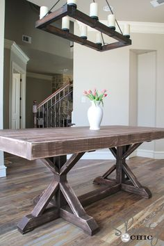 Rustic dining table DYI