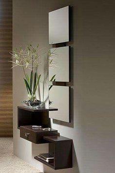Miroir For a small entryway #Smallentryways