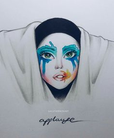 Applause - Lady GaGa by Alef Vernon Illustration