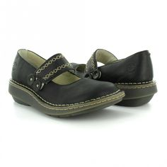 Dr Martens Bree Womens Leather Slip-on Mary-Jane Shoes - Black