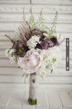 rustic bouquet with peonies and lavender | Wedding Pins! A Collection of the Best Wedding Pinterest Pins Together in One Place!