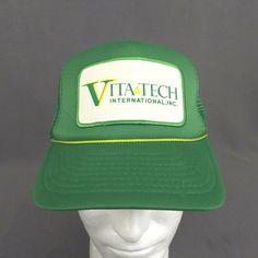 807be4e9eed906 Vita Tech International Inc Snapback Hat Green Trucker Rope Cap Mesh Back  Patch #Sportcap #