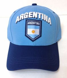 9278a71c6b5 New ARGENTINA HAT Light Navy-Blue Argentinian Flag of Country Nation Men Women   Rhinox  BaseballCap