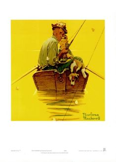 Fish Finders Print by Norman Rockwell #fishfinders