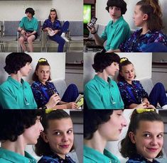 I love them with my whole heart😔❤️ can't believe they're apart I mean el's going into high-school she's gonna meet so many new people I'm… Stranger Things Actors, Stranger Things Season 3, Eleven Stranger Things, Stranger Things Netflix, Best Tv Shows, Best Shows Ever, Movies And Tv Shows, Movies Showing, Bobby Brown