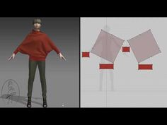 Джемпер из квадрата - YouTube Drape Dress Pattern, Knit Cardigan Pattern, Crochet Cardigan, Blouse Patterns, Clothing Patterns, Sewing Patterns, Fashion Design Software, Sewing Blouses, Sewing Techniques