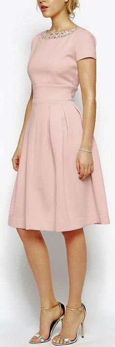 modest dresses for women 15 best outfits - cute dresses outfits Trendy Dresses, Cute Dresses, Vintage Dresses, Beautiful Dresses, Casual Dresses, Short Dresses, Vintage Lace, Wedding Vintage, Vintage Pink