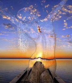 transparante watervrouw