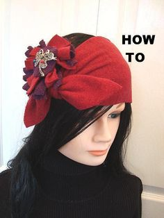 Sewing: NO SEW FLEECE HEADBAND, AND NO SEW FLOWE