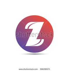 initial letter z creative circle logo typography design for brand and company identity. gradient red and purple color