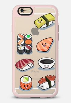 Sushi Style iPhone 6 case in Pink Gray & Clear by Emanuela Carratoni | @casetify