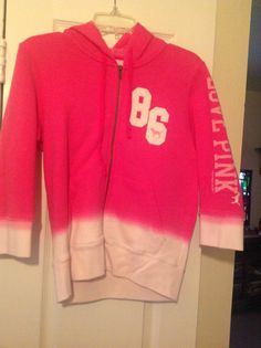 Victoria's Secret PINK Hoodie, Pink Ombré  Check it out on Ebay!
