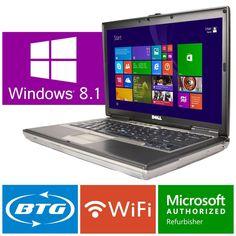 Dell Laptop Latitude Windows 8.1 Dual Core DVD Burner WIFI Computer Wireless 2GB