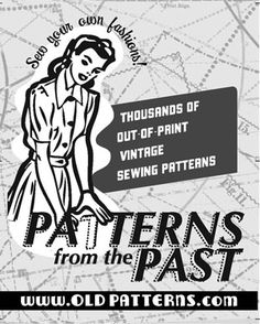 Free Printable Sewing Patterns & Free Vintage Sewing Patterns by Browse Patterns / Old Patterns Free Printable Sewing Patterns, Free Sewing, Vintage Sewing Patterns, Crochet Patterns, Skirt Patterns, Easy Sewing Patterns, Coat Patterns, Blouse Patterns, Diy Vintage