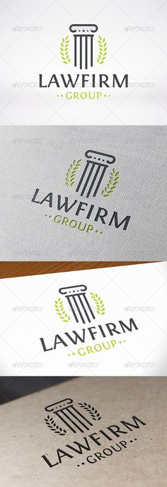 Law Firm Logo Template — Vector EPS #professional #lawyer • Available here → https://graphicriver.net/item/law-firm-logo-template/8027105?ref=pxcr