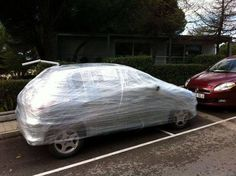 That's what happens if you don't take the parking space seriously! #pranks #bad parking #happyfriday