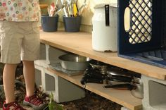 This is a really cool blog about this mud pie kitchen for kids!