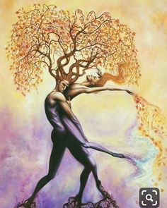 Soul Tangle ~ Oil Painting ~ Prints Available is part of Art painting - 30 x 40 oil on birch wood ~ Signed Fine Art Prints on Linen & Stretched Linen Art Amour, Flame Art, Art Paintings For Sale, Oil Paintings, Black Love Art, Illusion Art, Surreal Art, Tree Art, Erotic Art