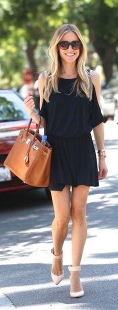 Black Dress+Big Bag<3