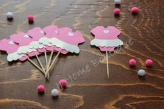 Cupcake topper , baby dress white and pink , baby shower cupcake topper, welcome baby cupcake topper Cute Baby Dresses, White Baby Dress, Baby Shower Cupcake Toppers, Welcome Baby, Cute Babies, Boutique, Birthday, Party, Pink