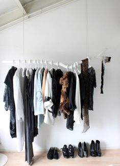 We all know my love for tree branches....and open concept closets. I win with this one.