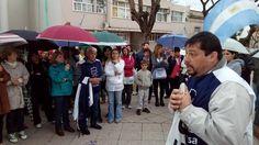 Docentes marcharon en apoyo a la Directora agredida por el padre de una alumna