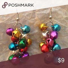 Jingle bell earrings Adorable and festive jingle bell earrings! Never been worn! Accessories